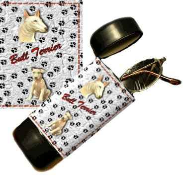 Bull Terrier Eyeglass Or Sunglass Case