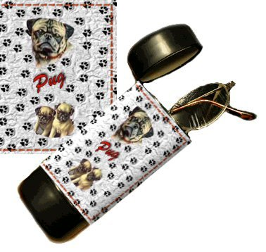 Pug Eyeglass Or Sunglass Case