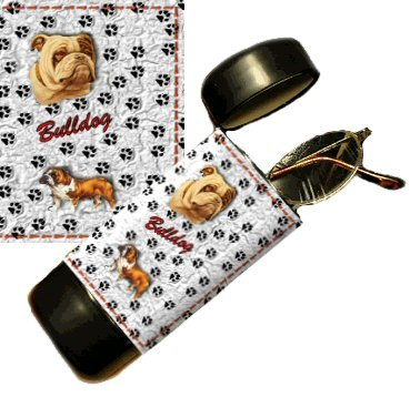 Bulldog Eyeglass Or Sunglass Case