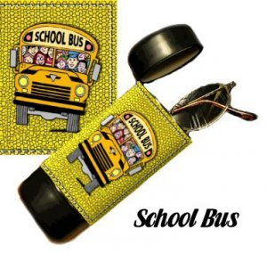 School Bus Flip Top Eyeglass / Sunglass Case