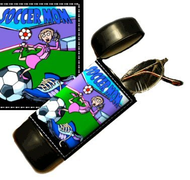Soccer Mom Flip Top Eyeglass / Sunglass Case