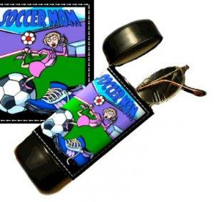 Soccer Mom Flip Top Eyeglass / Sunglass Case