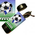 Soccer Flip Top Eyeglass / Sunglass Case