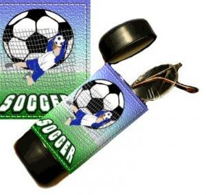 Soccer Flip Top Eyeglass / Sunglass Case