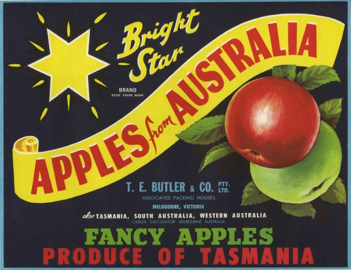 BRIGHT STAR APPLE CRATE LABEL