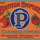 BRITISH EMPIRE CANADIAN APPLE CRATE LABEL