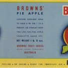 BROWNS' AUSTRALIAN PIE APPLE CAN LABEL