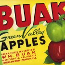 BUAK GREEN VALLEY APPLES CRATE LABEL