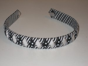 Back to Basics - Black & White - Ribbon Headband