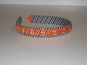 Halloween Pumpkin Ribbon Headband