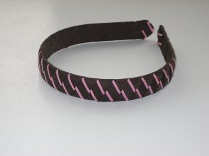 Back to Basics - Pink & Brown - Ribbon Headband