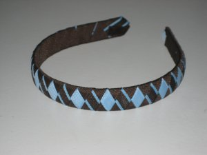 Chocolate Covered Blueberry Ribbon Headband