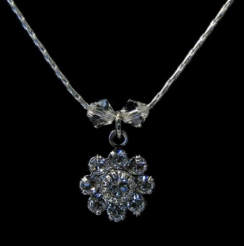 Crystals and Flower Necklace