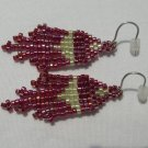 Rainbow Cherry Cola Beaded Earrings