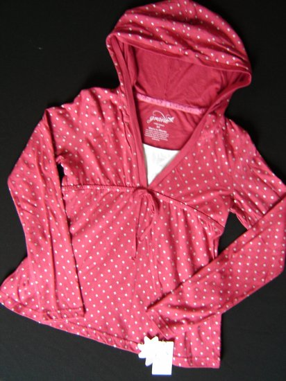 NWT Girl's Trendy Red Layered Look Grane Top Size Large L 50% Off New