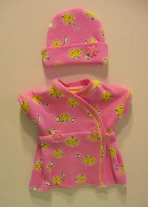 Pink Baby Chick Preemie Dress Set (fits infants 2-4 Pounds)