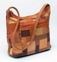 Braided Strap Patchwork Bag (004-013)