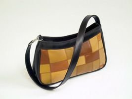 Brown And Black Leather Bag (004-014)