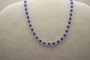 Cobalt Blue and Crystal Necklace