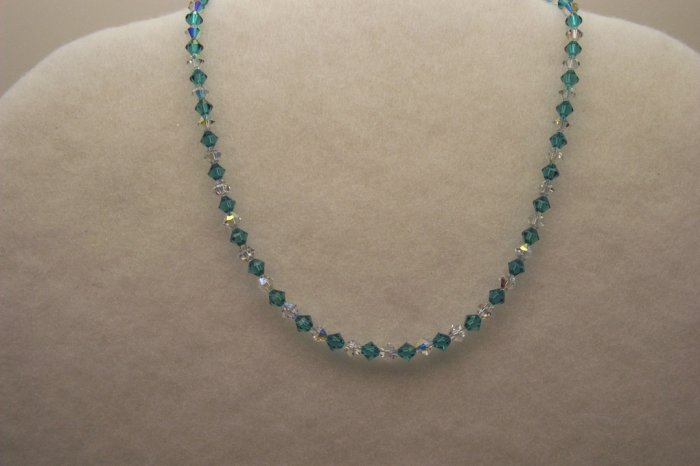 Blue Zircon and Crystal