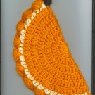 Set of two Orange Slice Potholders