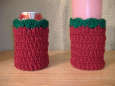 Set of Two Can or Glass Drink Cozies
