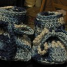 Baby Boots in Varigated Blues