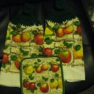 Fruit - Set of Two Crochet Top Kitchen Towels and Potholder