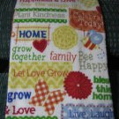 Words of Home and Family - Set of Two Crochet Top Kitchen Towels