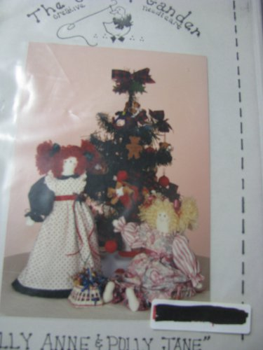 "Holly Anne & Polly Jane 18"" Dolls  Pattern"