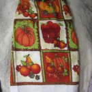 Pumpkin-Harvest-Set-of-Two-Crochet-Kitchen-Towel
