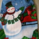 Snowman and Believe. - Set of Two crochet top kitchen towels.
