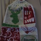 Season Greetings - Set of Two  Crochet Top  Kitchen Towels
