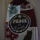 Peace on Earth - Set of Two  Crochet Top  Kitchen Towels