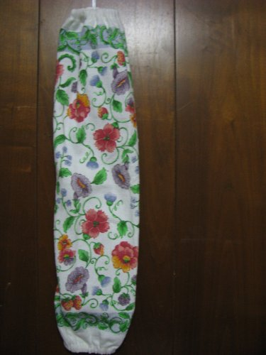 Flowers and Vines Grocery Bag Holder