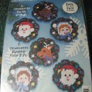 "Plastic Canvas Ornament Kit- Makes 6-3"" Ornaments"