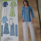 Simplicity 4149  Sizes 10-18 Misses'/Women;s Skirt, Pants, Tunic andn Scarf.