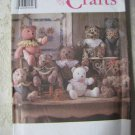 Simplicity 9524 One Size Two Pattern Piece Stuffed Bear in two sizes- 15 or 18 inch size