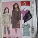 McCall's 5967 Sizes 3-6  Childrens' and Girls' Tops and Dresses