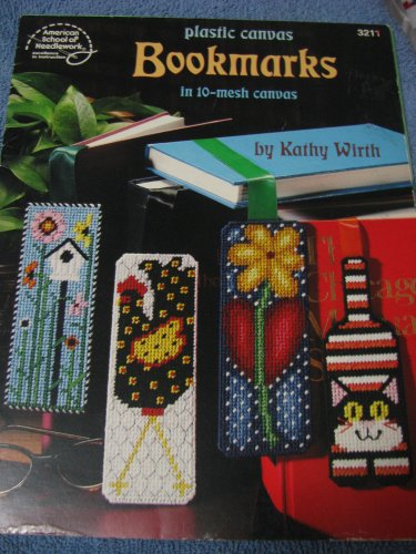 Bookmarks in 10 Mesh plastic canvas .Pattern Book