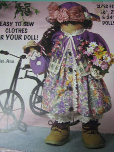 McCall's Creates Dolly Dresses Pattern for 18,21, & 24 inch Dolls