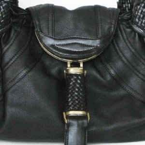 Beige designer woven handle detective Spy bag handbag