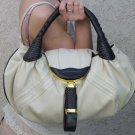 Beige celebrity spy deisgner Fashion handbag purse bag