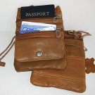 TWO PASSPORT Leather ID Bag Neck Pouch Wallet FREE SHIP