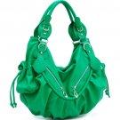 Green Celebrity Designer slouchy Studded handbag bag