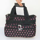 PINK DOT BLACK DUFFLE BAG LUGGAGE CARRY ON OVERNIGHT 13