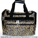 LEOPARD PRINT DUFFLE BAG LUGGAGE CARRY ON OVERNIGHT 16""