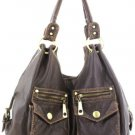 Brown Washed Inspired Designer Urban Handbag Tote Nice!