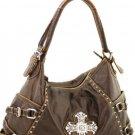 Brown Western Cross Inspired Designer Handbag Purse