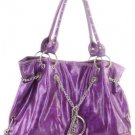 Purple Shinny Inspired Tall Designer Handbag Purse Hobo